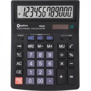 Калькулятор електронний 12 розрядів, розмір 200*154*36 мм OPTIMA O75525