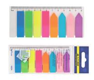 Закладки пластиковые NEON 12х45мм, 8х25л., ассорти BUROMAX BM.2307-98