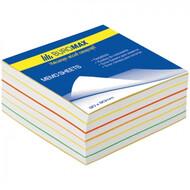 Блок бумаги Радуга 80х80/400л. не склеенный BUROMAX BM.2233