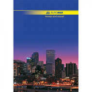 Книга канцелярская А4 96 лист. клетка, обложка ассорти,  BUROMAX