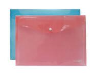 Папка-конверт А4,прозрачная на кнопке,ECONOMIX E31301