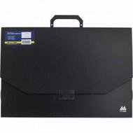 Портфель пластиковый Buromax, A3, 32мм, черный BM.3725-01
