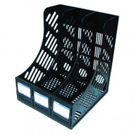 Лоток   для бумаг вертикальный,  черный, на 3 отделения, ECONOMIX,E31903-01