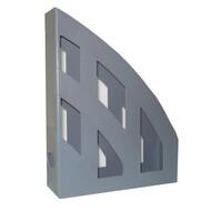Лоток для бумаг вертикальный JOBMAX, серый, КИП (ЛВ-01серый)