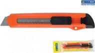 Нож канцелярский 18мм, пласт.корпус, мех.фиксатор лезвия, BUROMAX