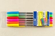 Ручка шариковая Economix E10510 в наборе 6шт (син.,красн, зел, фиол,желт,оранж), 0,7мм