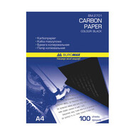 Бумага копировальная А4 16г/м² 50лист. черная Buromax ВМ2701