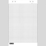 Блок бумаги для флипчартов, 10 листов, клетка, 64х90см. BUROMAX BM.2295