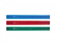 Линейка пластиковая 30 см матовая, цветная Axent 7530- -А