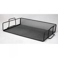 Лоток для бумаг 355x245x80мм ,BUROMAX,BM.6251 (чорный,серебристый)