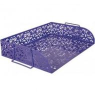 """Лоток для бумаг  горизонтальный """"Barocco"""" 320x250x7мм ,BUROMAX,BM.6253-07(фиолетовый,розовый )"""