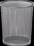 Корзина для бумаг,295x295x345мм, BUROMAX,BM.6270(чорная серебро )