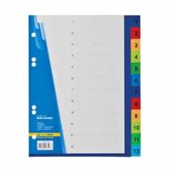 Цифровой индекс-разделитель А5, Buromax BM.3213, для регистраторов, 12 поз.