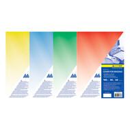 Обложка А4 прозрачная 180мк 50л цветная ВМ 0560 (синяя, зеленая, красная, желтая)