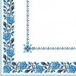 """Салфетка 33х33 20шт """"Марго"""" 3-х слой. разноцветные Украинский орнамент"""