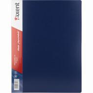 Папка пластиковая A4 Axent 1200-02-A на 100 файлов, синяя