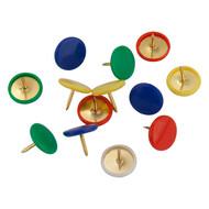 Кнопки цветные Axent 4214-A 100 штук, пластиковый контейнер