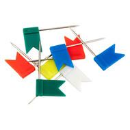 """Кнопки-гвоздики Axent 4215-A цветные """"флажки"""", 30 штук, пластиковый контейнер"""
