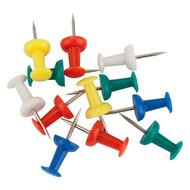 Кнопки-гвоздики Axent 4213-A цветные, 50 штук, пластиковый контейнер