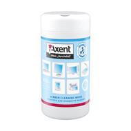 Салфетки Axent 5302-A для экранов, влажные, 100 штук