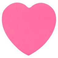 Блок бумаги Axent 2443-01-A с липким слоем, 70x70 мм, 50 листов, сердце